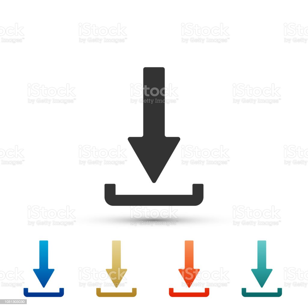 Download Icon Isolated On White Background Upload Button Load Symbol
