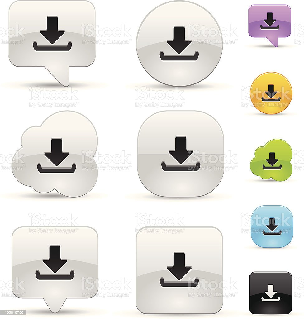 Download icon set royalty-free stock vector art