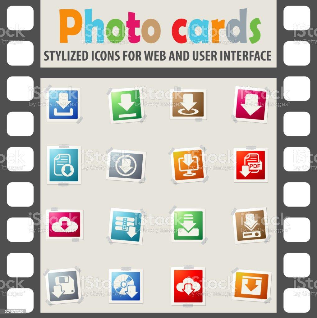 download icon set download icon set – cliparts vectoriels et plus d'images de affaires libre de droits