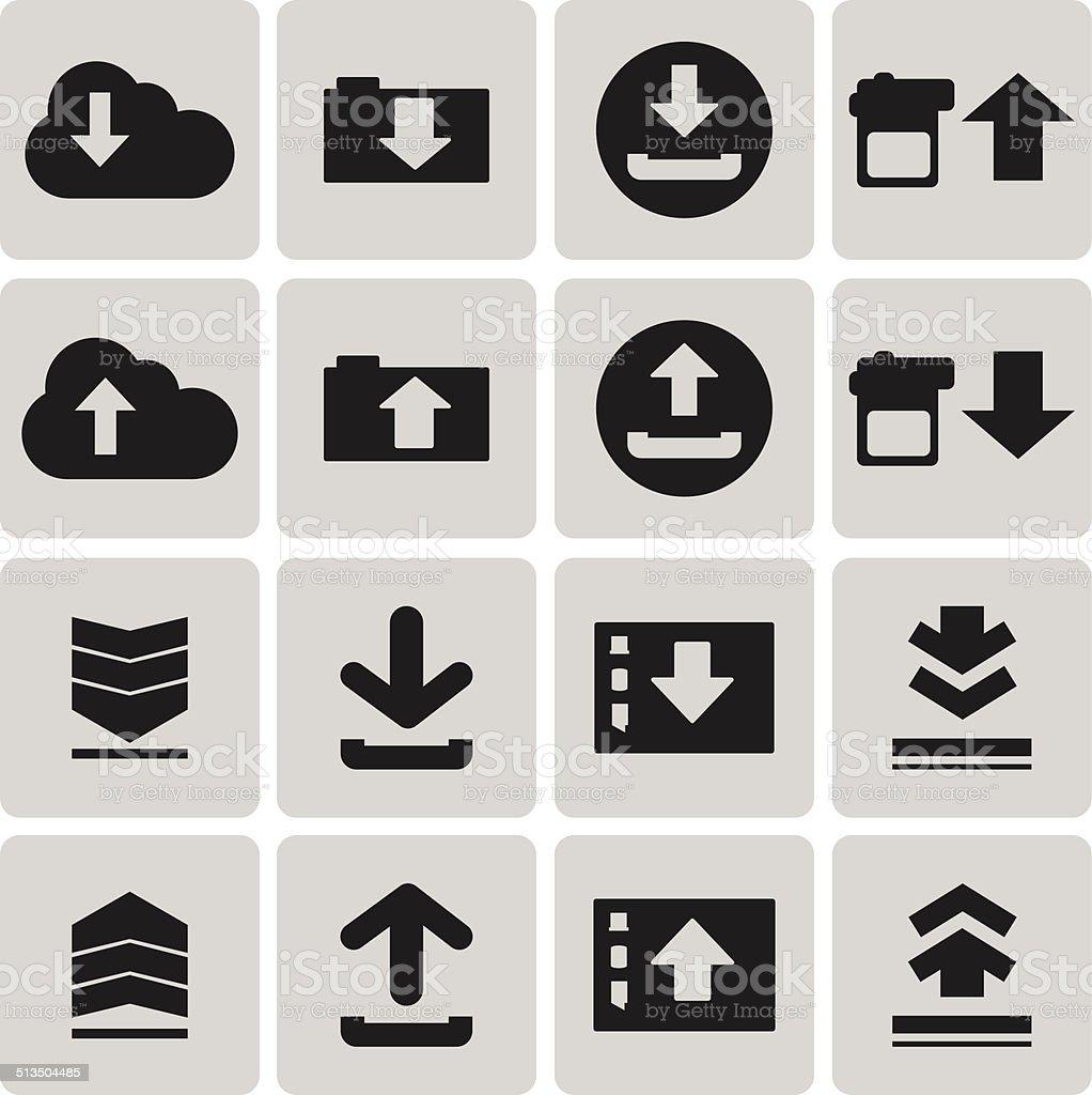 Downloadsymbol Hochladen Last Symbol Set3 Zu Wechseln Vektor ...