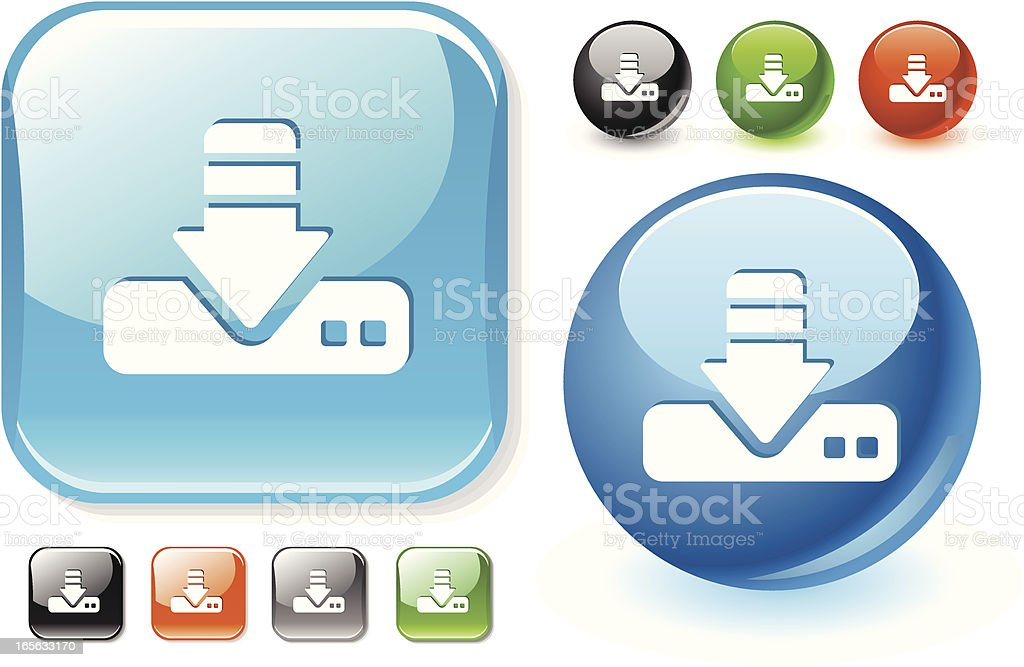 Download icon royalty-free stock vector art