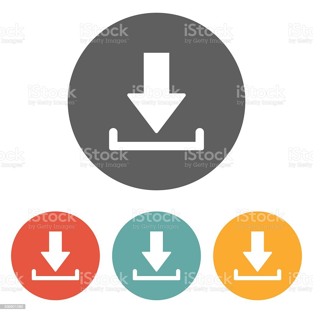 download icon vector art illustration