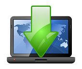 Download Icon. Vector Illustration
