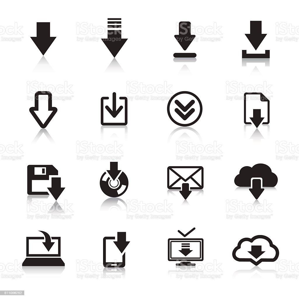 Download Icons & Symbols. vector art illustration