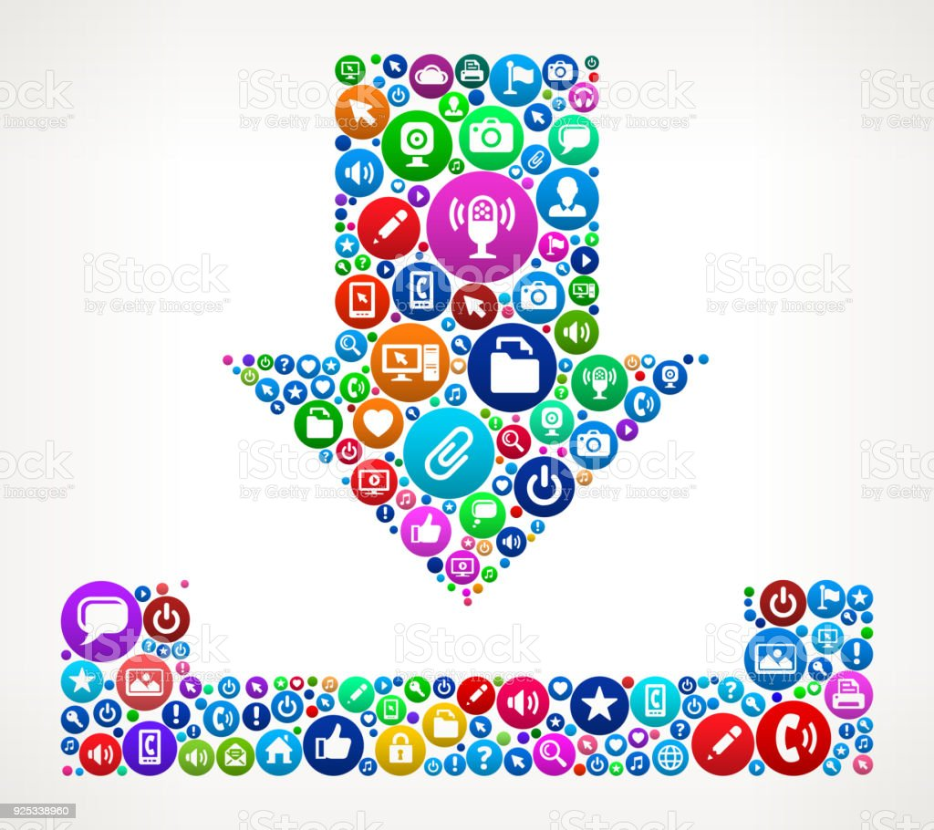 Download Internet Communication Technology Icon Pattern Stock Vector