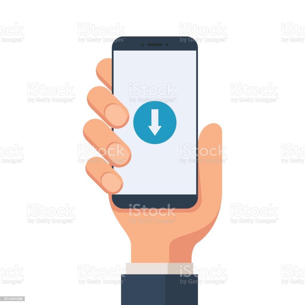 Download mobile symbol vector art illustration