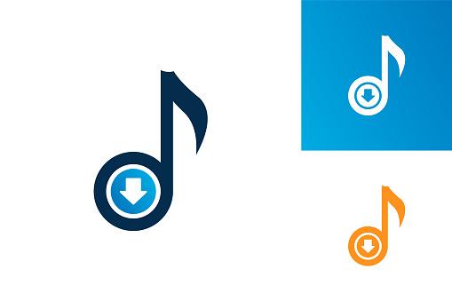 Download Music Logo Template Design Vector, Emblem, Design Concept, Creative Symbol, Icon
