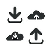 Download now signs. Upload from cloud icon