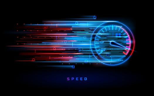 Download progress bar or round indicator of speed