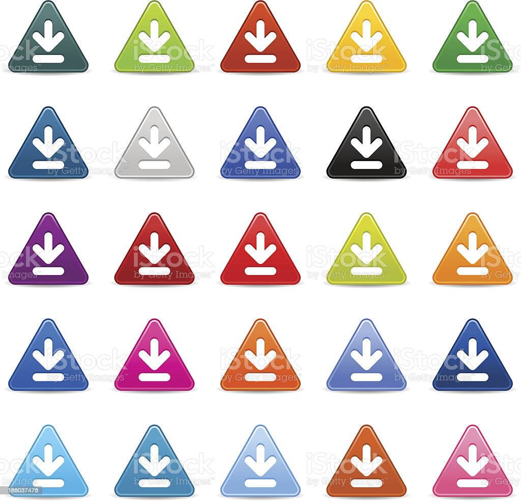 Download sign arrow pictogram satin triangle icon web iternet button royalty-free download sign arrow pictogram satin triangle icon web iternet button stock vector art & more images of application form