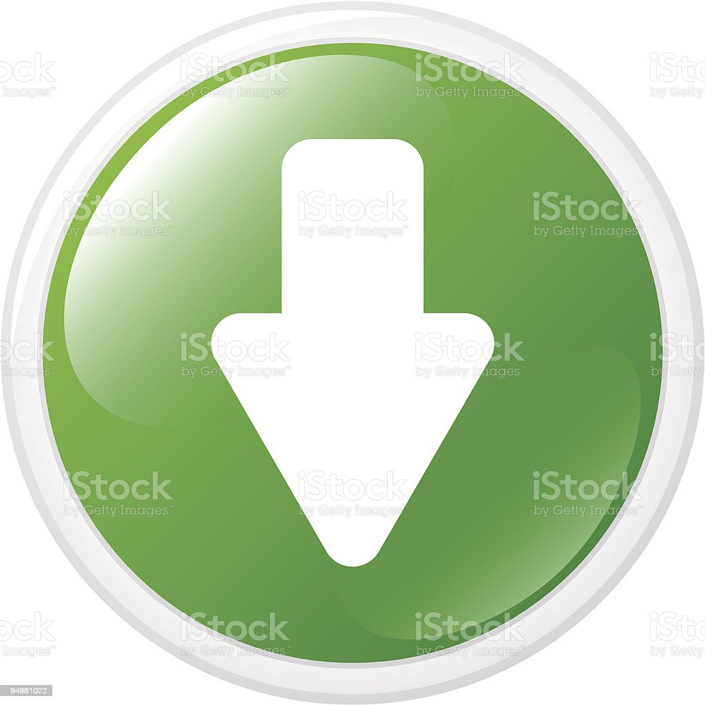 Download symbol. Button. Icon royalty-free stock vector art