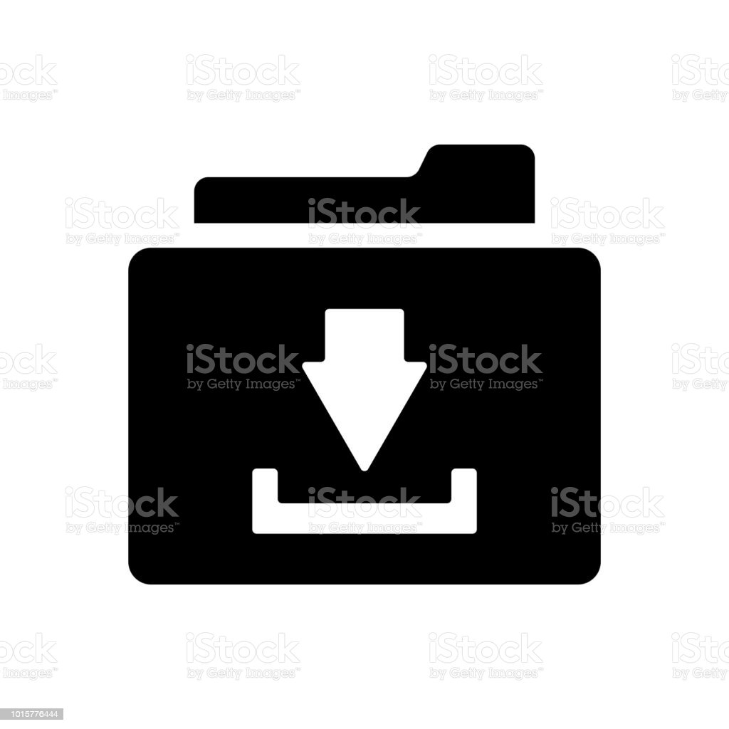 Download Vector Icon Install Symbol Modern Simple Flat Vector Illustration  For Web Site Or Mobile App Stock Illustration - Download Image Now