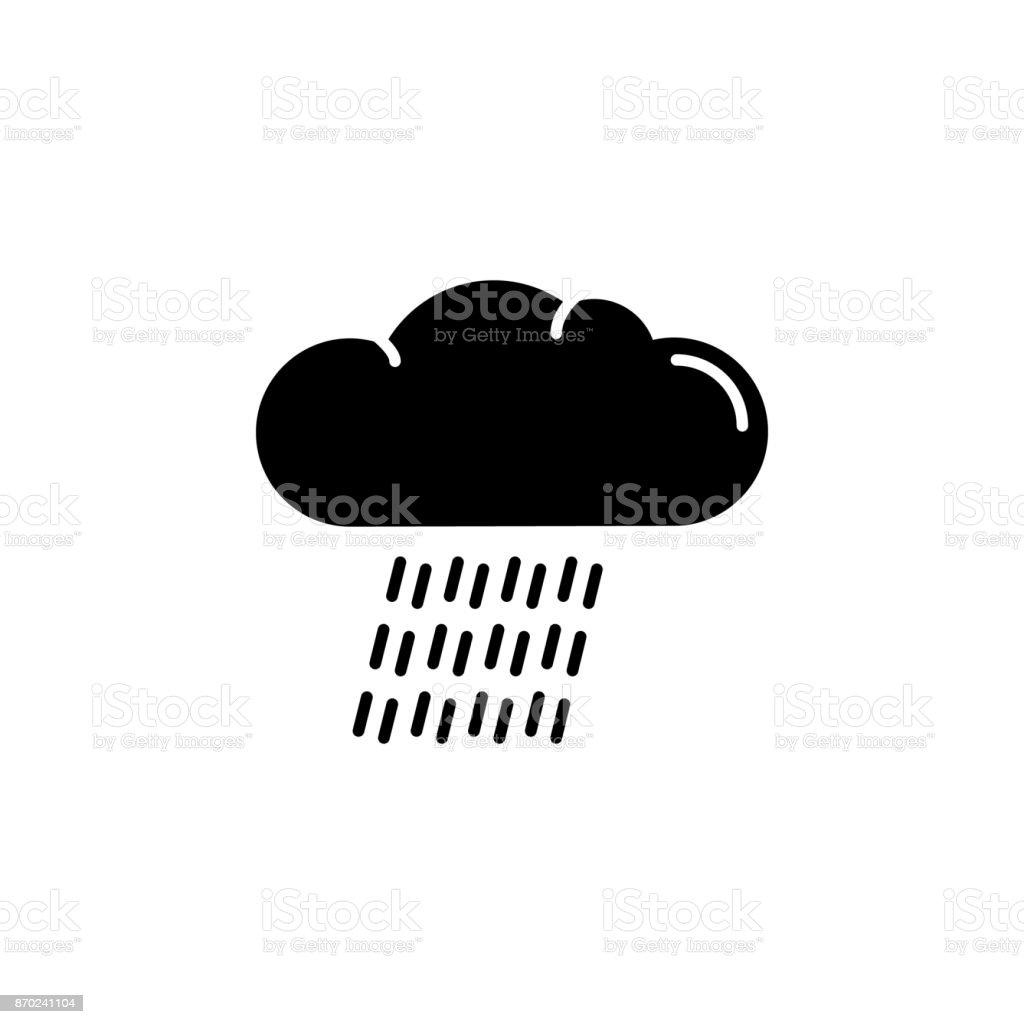 downpour icon vector art illustration