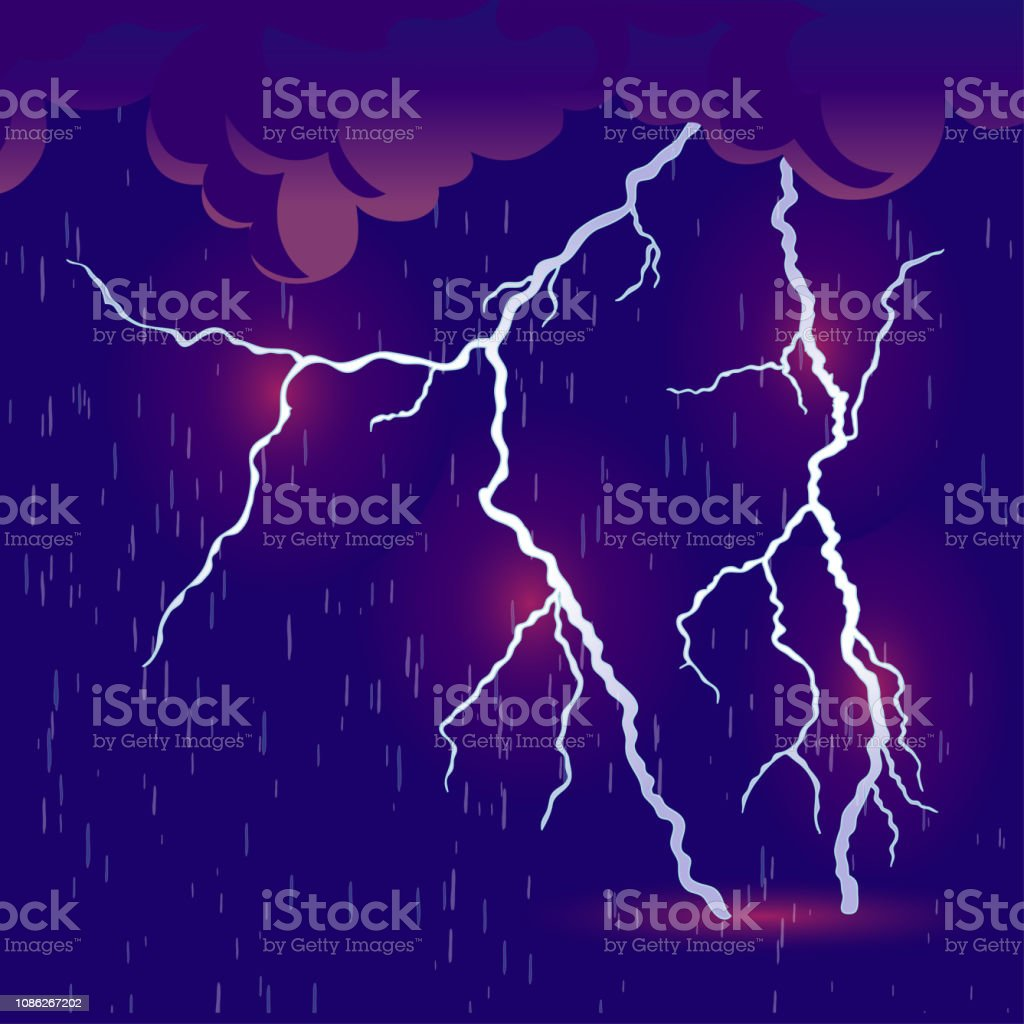 downpour with thunderstorm vector stock illustration download image now istock https www istockphoto com vector downpour with thunderstorm vector gm1086267202 291453082
