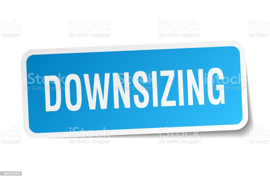 downsizing square sticker on white royalty-free downsizing square sticker on white stock vector art & more images of badge