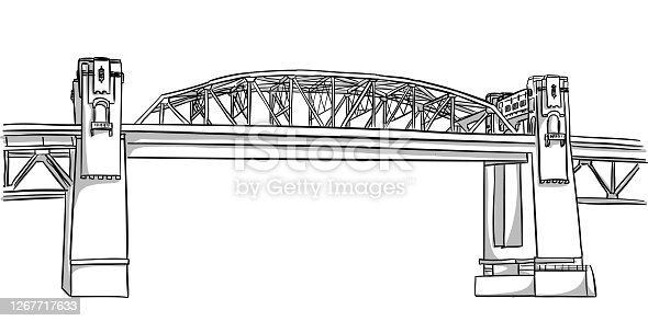 A scenic view of a bridge