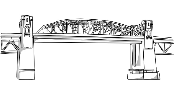 A scenic view of a bridge