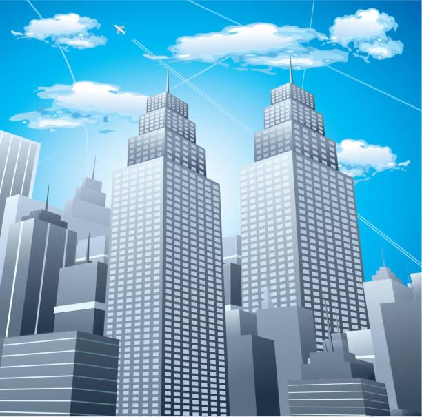 Downtown district – Vektorgrafik