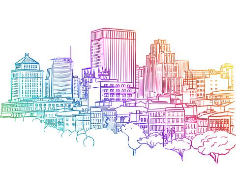 Downtown Highrises Rainbow