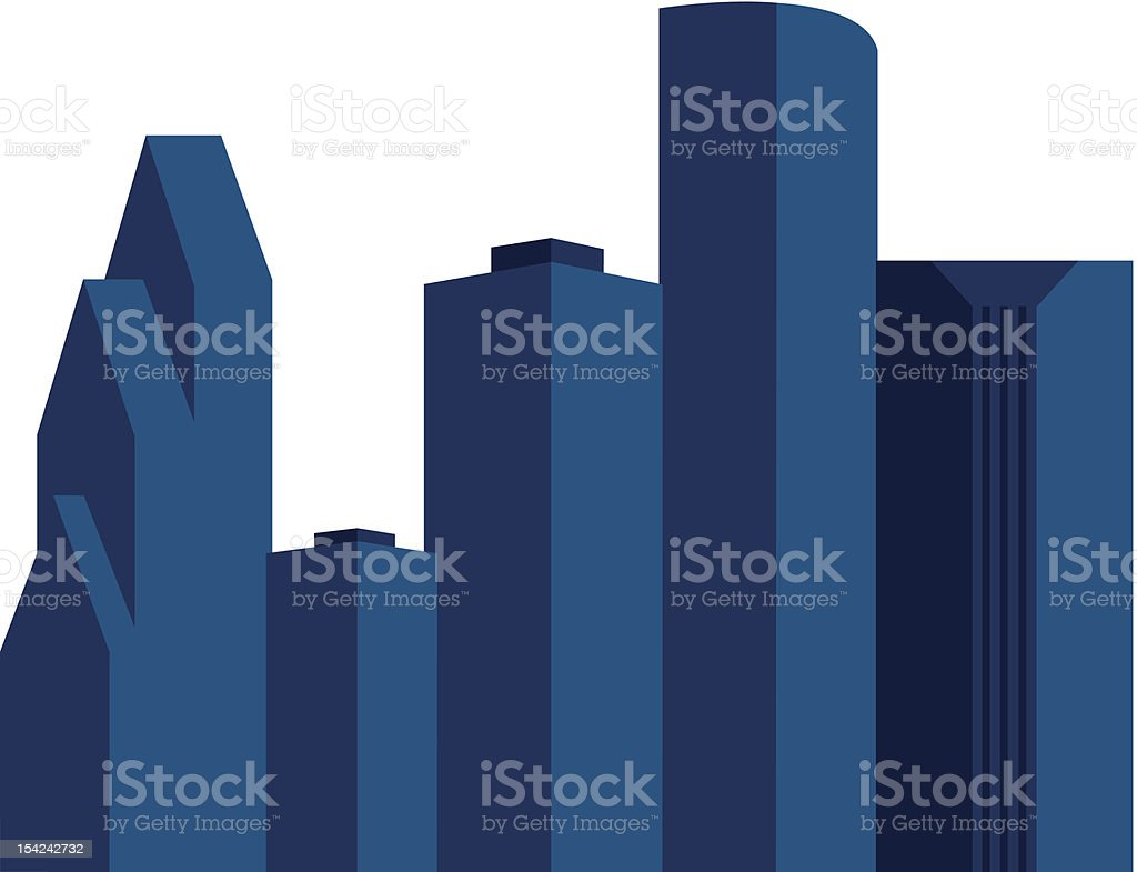 Downtown Houston Skyline royalty-free stock vector art