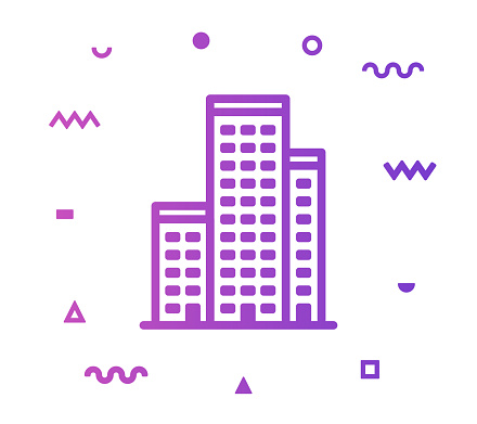 Downtown Line Style Icon Design