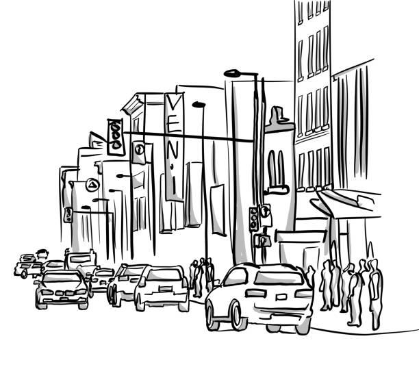 Downtown Revival Street – Vektorgrafik