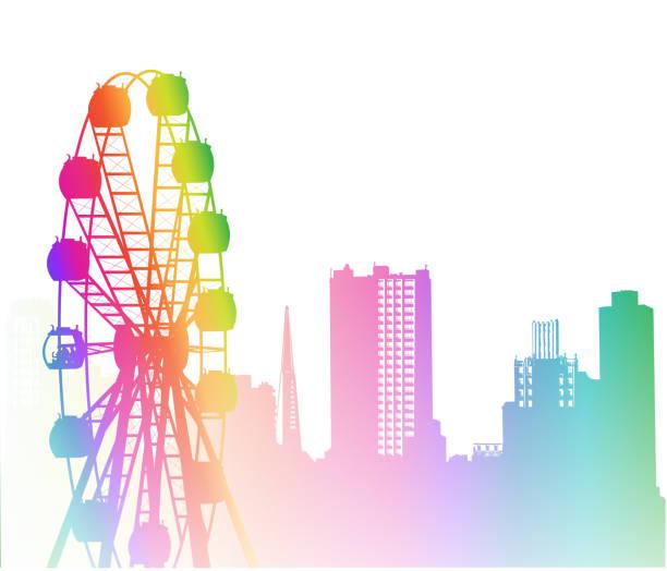 Downtown Ride Rainbow – Vektorgrafik
