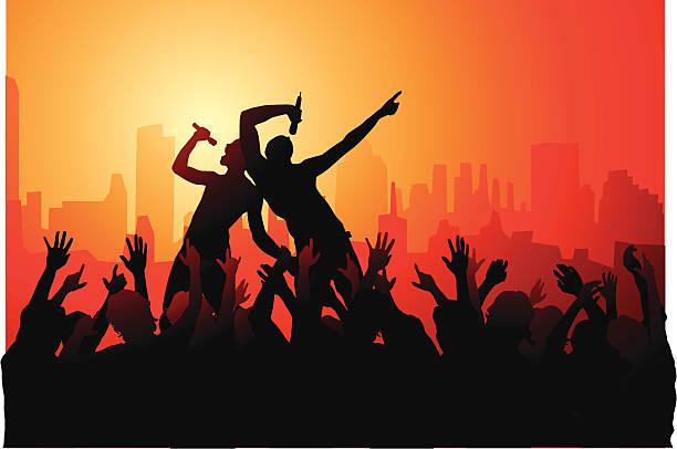 bildbanksillustrationer, clip art samt tecknat material och ikoner med downtown rock jam! - street dance