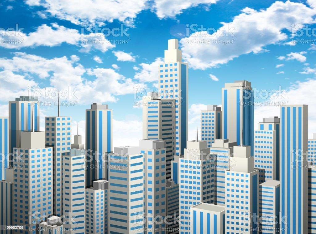 Der Innenstadt – Vektorgrafik