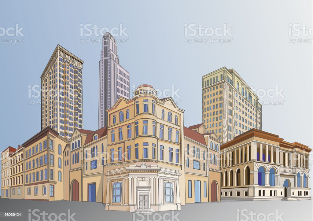 Downtown royalty-free downtown stock vector art & more images of 1900-1909