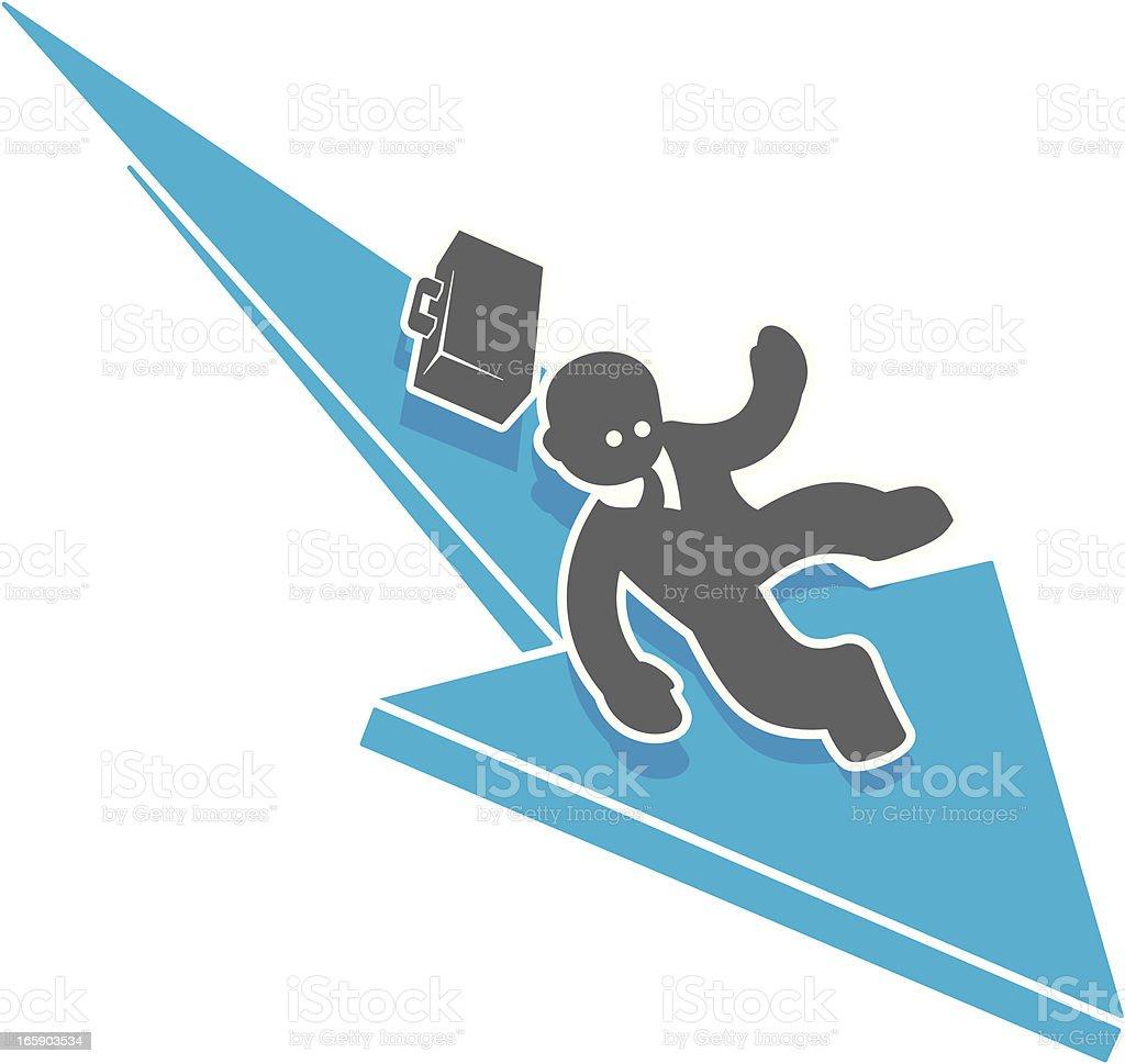 Downward Slide royalty-free stock vector art