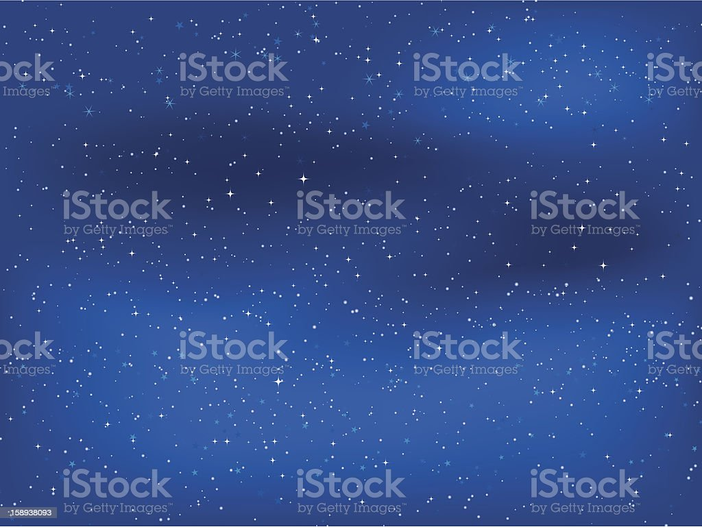 Dozens of stars lighting up the night sky royalty-free stock vector art