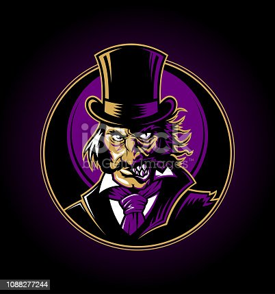 istock Dr. Jekyll and Mr. Hyde Gothic character vector illustration 1088277244