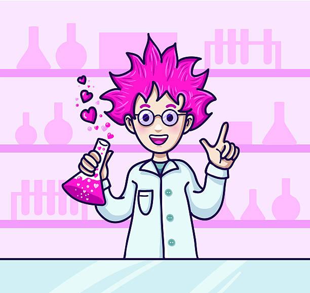Dr. Love Wissenschaftler Charakter – Vektorgrafik