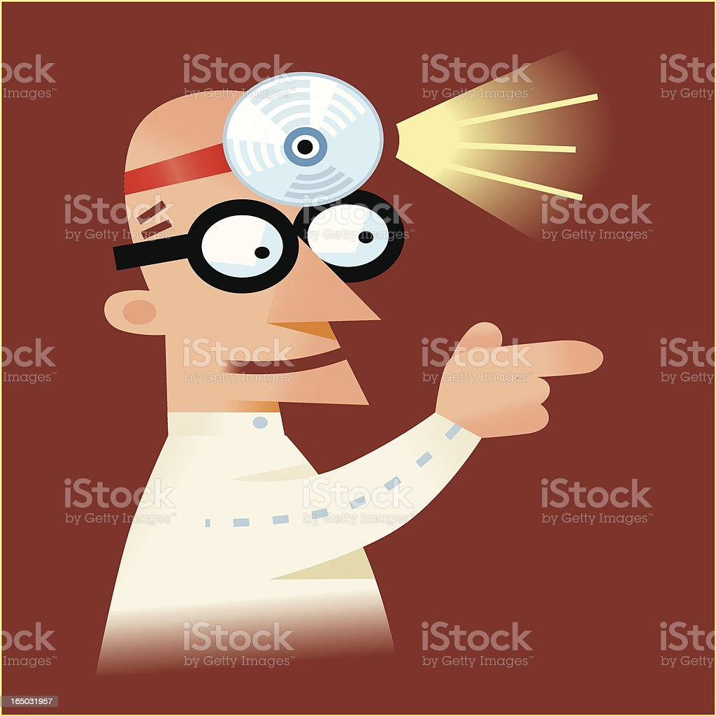 Dr. Mind Probe royalty-free stock vector art