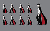 istock Dracula Manga Cartoon Animation Frame Walking Vector 1177585855