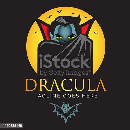 istock Dracula or Vampire logo. 1170838148