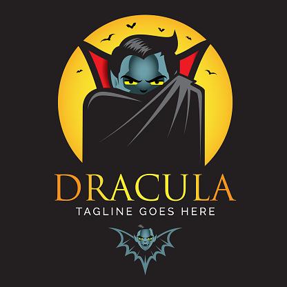 Dracula or Vampire logo.