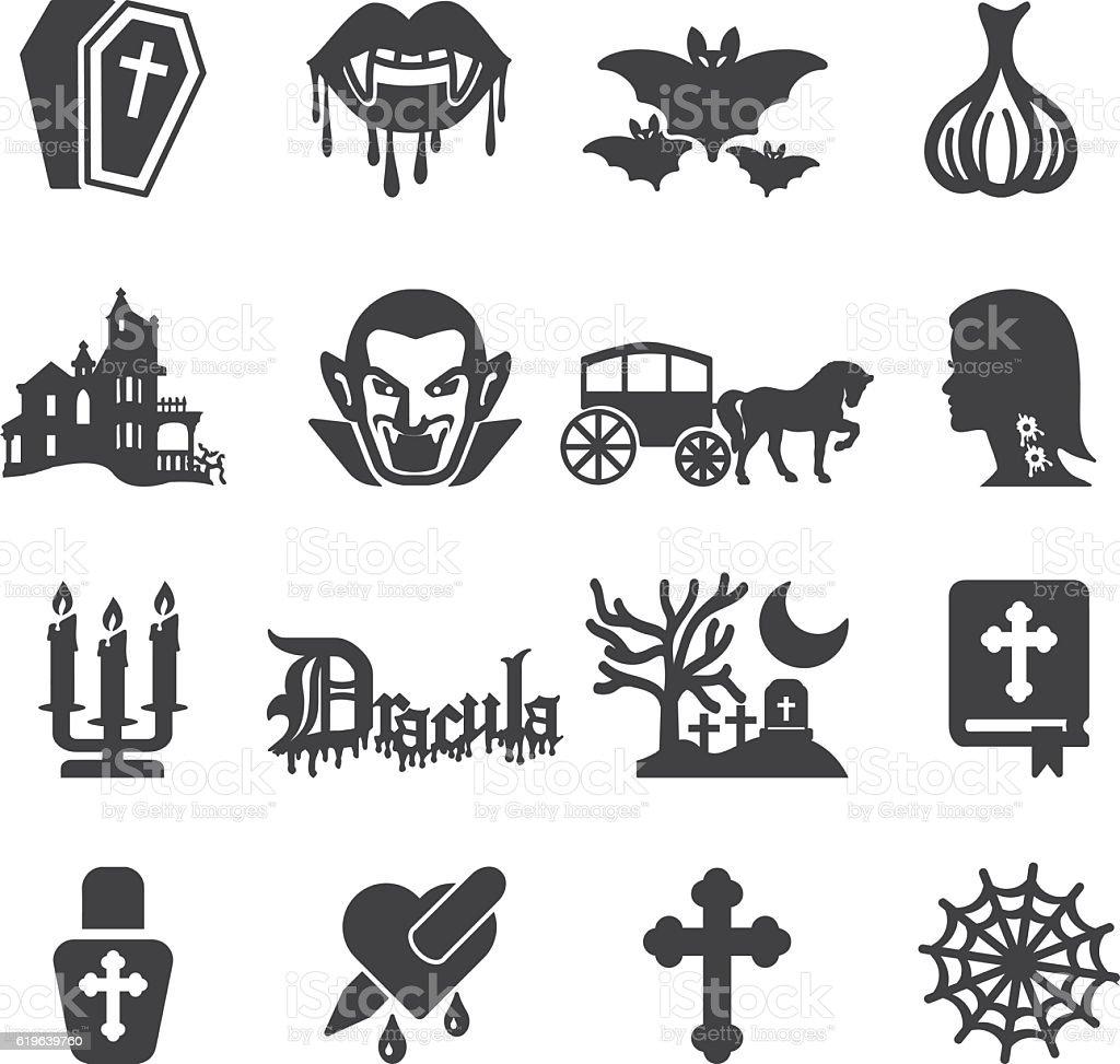 Dracula Silhouette Icons | EPS10 vector art illustration