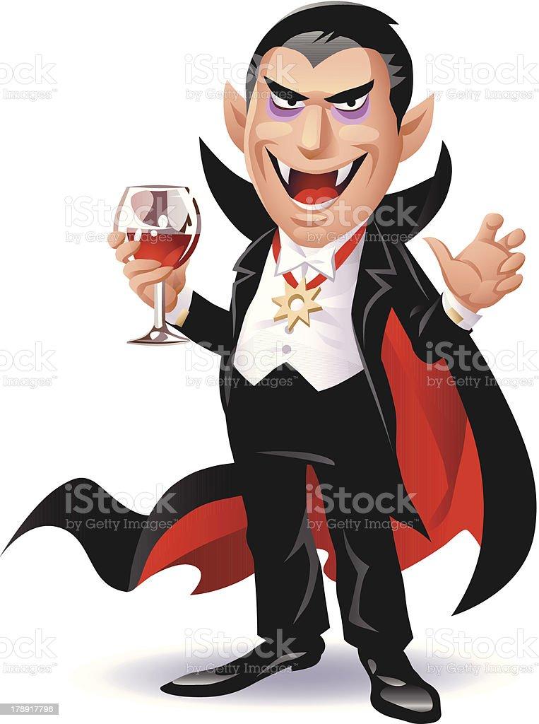 Dracula vector art illustration