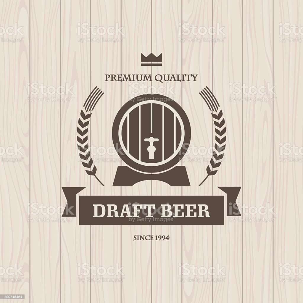 Draft beer vector art illustration