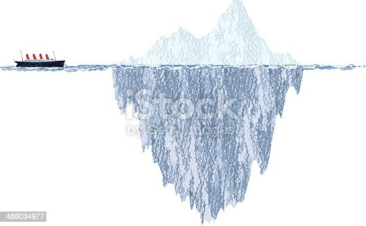 Vector illustration of an Iceberg and a cruise ship. EPS10 and high resolution JPEG files.
