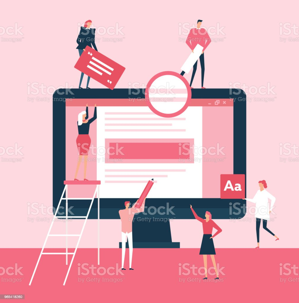 Drafting a document - flat design style illustration royalty-free drafting a document flat design style illustration stock vector art & more images of backgrounds