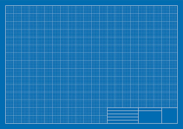 Royalty free blueprint paper clip art vector images illustrations drafting blueprint grid architecture vector art illustration malvernweather Images