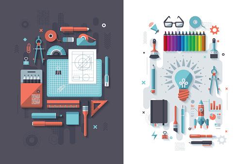 Drafting & Creativity Concept