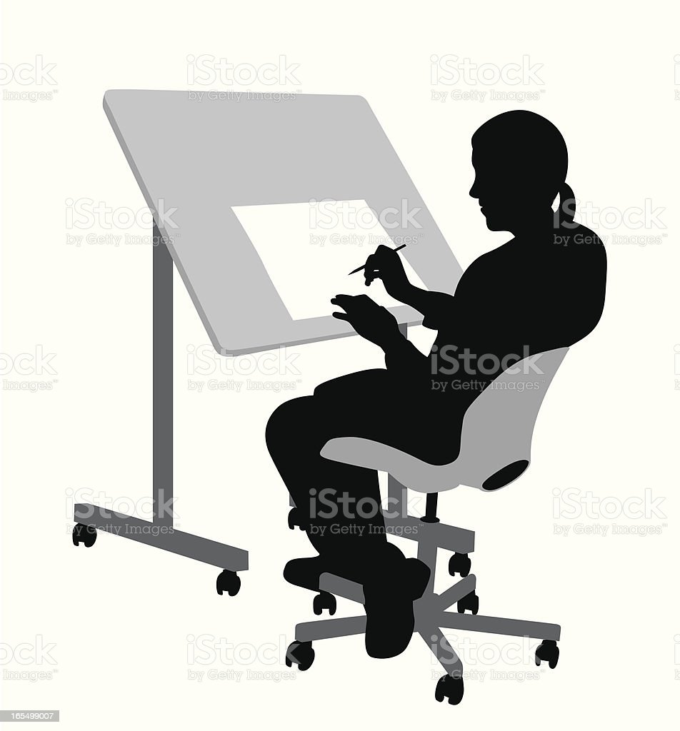 Drafting  Vector Silhouette royalty-free stock vector art