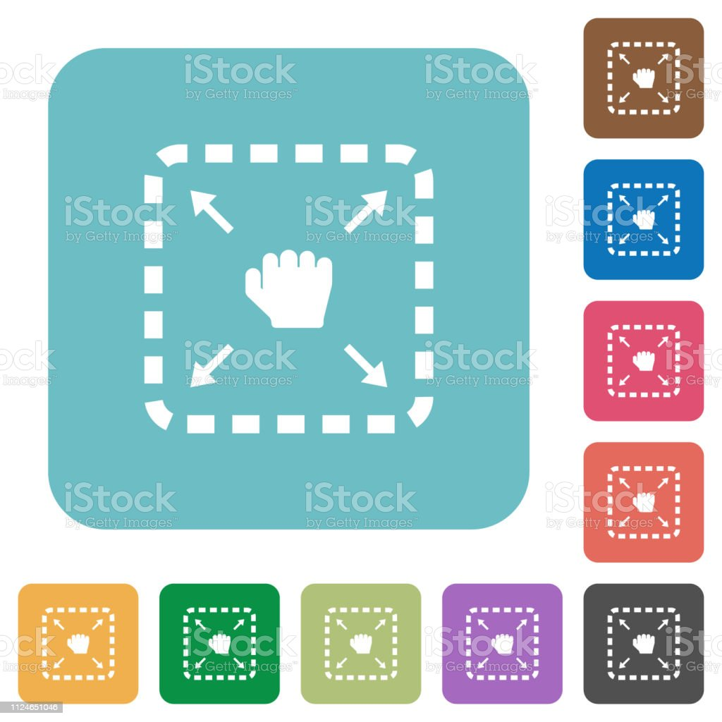 Drag item rounded square flat icons
