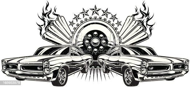 drag race gto stock vector art  u0026 more images of car 165953579