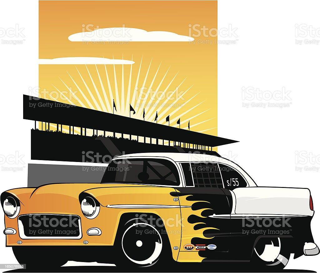 Drag strip '55 - Royaltyfri 1955 vektorgrafik