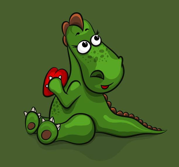 Download Best Dinosaur Valentine Cards Illustrations, Royalty-Free ...